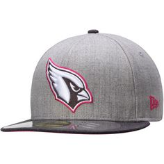 Men's Arizona Cardinals New Era Gray/Graphite Breast Cancer Awareness On-Field 59FIFTY Fitted Hat $36.95 #AZCardinals #NFLStyle