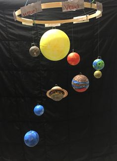 50 Marvelous DIY Solar System Crafts, Activities and Decorations with an 'Oomph' Factor Solar System Projects For Kids, Solar System Crafts, Solar System Planets, 3d Solar System Project, Science Experiments Kids, Science For Kids, Science Projects, School Projects, Planet Project