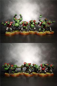 Blood Bowl Ork Team