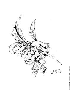 Skeeter by https://www.facebook.com/scott.hassler.art | Custom Tattoo Designs #custom #tattoo #design #inspire #ink #bodyart #art #hassified #michael #scott #hassler #graphic #illustration #graphic