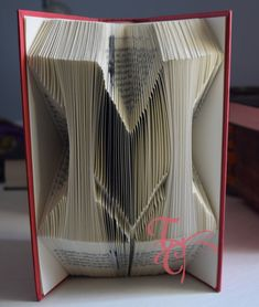Folded Book Art  Miami University  M  College  by TodaysCreations1