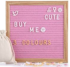 Christian Gift Pink Retro Letter Board Under U20 From Amazon