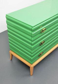Gorgeous green cabinet design   www.bocadolobo.com #bocadolobo #luxuryfurniture #exclusivedesign #interiodesign #designideas #cabinetsideas #moderncabinets