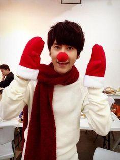 Super Junior #Kyuhyun Turns Into a Cute Rudolph For Christmas More: http://www.kpopstarz.com/articles/70895/20131226/super-junior-kyuhyun-turns-into-a-cute-rudolph-for-christmas.htm