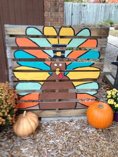 Pallet Ideas 27 Creative Fall Pallet Projects for Decorating Your Home on a Budget - Over 25 options for pallet signs to decorate your home this fall. They are so inexpensive you could make new fall pallet projects each year. Pallet Crafts, Diy Pallet Projects, Wood Crafts, Palette Halloween, Fall Halloween, Whimsical Halloween, Pallet Painting, Pallet Art, Thanksgiving Crafts