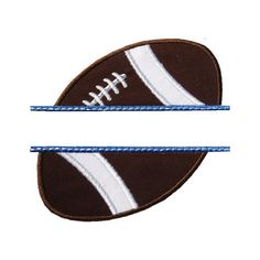 Football Name Plate Applique Machine Embroidery by HappyApplique