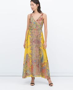 ZARA - SALE - LONG SCARF PRINT DRESS