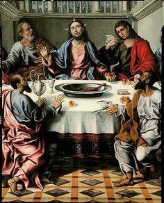Girolamo da Santacroce (1490 - 1556) - Ultima cena, dettaglio - Venezia -  Chiesa San Francesco della Vigna.