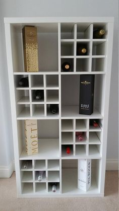 The IKEA Kallax collection Storage furniture is an essential section of any home. Trendy and delightfully easy the ledge Kallax from Ikea , for example. Ikea Wine Rack, Wine Rack Storage, Cube Storage, Wine Racks, Storage Units, Kallax Ikea Hack, Ikea Kallax Regal, Ikea Bar, Ikea Cubes