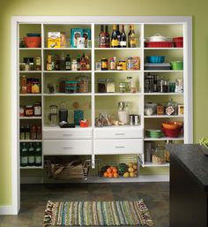 Create amazing pantry storage and so much more! Stay organized with Easy Track™ shelving. http://www.menards.com/main/landing-pages/vendor/easy-track/c-13440.htm?utm_source=pinterest&utm_medium=social&utm_campaign=storageandorganization&utm_content=easytrack&cm_mmc=pinterest-_-social-_-storageandorganization-_-easytrack