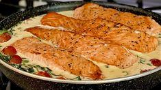 Ich habe noch nie so leckeren Fisch gegessen Zartes Rezept, das im Mund zergeht! - YouTube Salmon Recipes, Fish Recipes, Seafood Recipes, Cooking Recipes, Healthy Recipes, Fish Dishes, Seafood Dishes, Fish And Seafood, Main Dishes