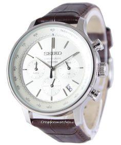 Seiko Chronograph Quartz Tachymeter SSB169 SSB169P1 SSB169P Men's Watch