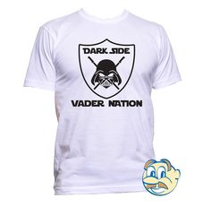 Feel the excitement and joy of getting your very own Darth Vader T Shirt for you or as a gift. Darth Vader White design available in Black https://www.etsy.com/listing/197448749/darth-vader-mens-white-grey-t-shirt?ref=shop_home_active_17
