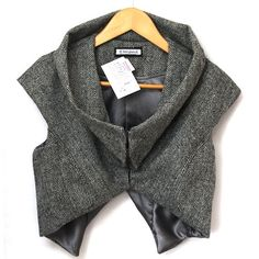 Post-post modern take on a tweed jacket.