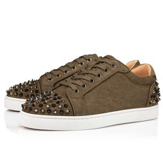 Red Sole, Brown Suede, Grosgrain, Casual Shoes, Christian Louboutin, High Top Sneakers, Model, Black, Style