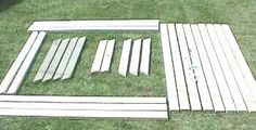 DIY Picnic Table -This has a neat idea for a picnic table mover, would be handy for when I need to mow the lawn