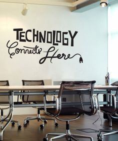 Vinyl Wall Decal Sticker Technology Connects Here #OS_DC576   Stickerbrand wall art decals, wall graphics and wall murals.