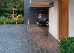 Image result for black cobble patio