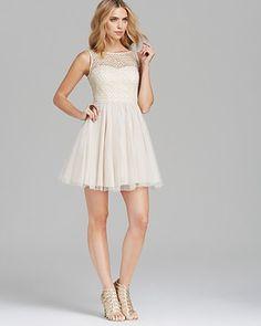 Aqua Sleeveless Lace Dress | Bloomingdale's