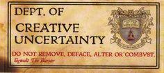 Discworld Unseen University Sticker Dept of Creative Uncertainty | eBay