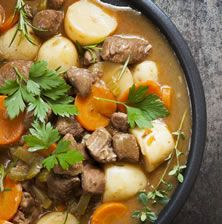 Buy Irish Stew by robynmac on PhotoDune. Irish stew, made with lamb, stout, potatoes, carrots and herbs. Slow Cooker Beef, Slow Cooker Recipes, Beef Recipes, Irish Recipes, Lamb Neck Recipes, Camping Recipes, Soup Recipes, Irish Stew, Slow Cooking