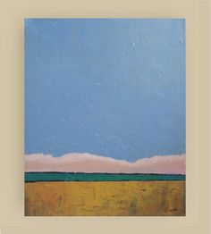 Original Landscape Painting  Acrylic Painting  pale by VESNAsART