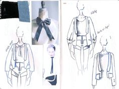 Fashion Sketchbook - fashion drawings; the fashion design process