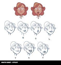 """schoolofvisualarts:  Mouth Chart for""""Haircut"""" by Samantha Chitacapa"""