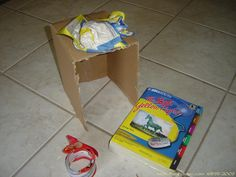 cover boxes with paper