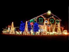 """""""The Cadger Dubstep Christmas House - Dubstep Nutcracker Remix""""  from yz85zak on YouTube.com  **Oh to be this guys neighbor!  I just hope he doesn't have a full concert stack for the bass to accompany the show**"""