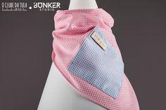 Pink Vichy Civic Dog® scarf, square pocket. http://civicdog.com/product/tuli-pañuelo-civic-dog-vichy-rosa