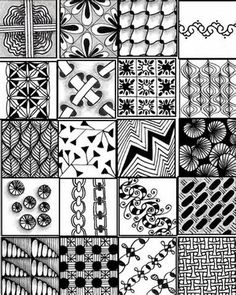 Simple Zentangle Patterns | Quote