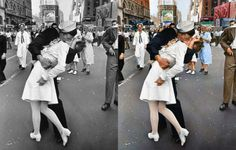 Iconic historical B&W photos get colorized