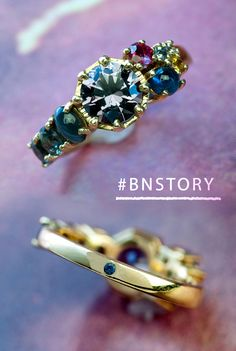 Talk about a universal love, our stellar new Custom Solar System Ring is also a favorite #BNstory. Most of the stones came from our customer's collection and each represents a planet in the solar system: the center stone is Jupiter, the smooth cabochon sapphire is Earth, Mars is a Ruby that used to belong to her mother, and so on. There's even a tiny Pluto hidden on the back of the shank! Enter our photo contest: http://woobox.com/zd4g9x or email your photos to press@bario-neal.com.