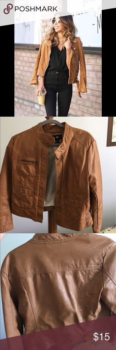 H&M Tan Biker Jacket Practically new. About 2 years old. Never wear it. Great for summer/Fall H&M Jackets & Coats