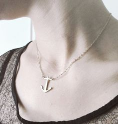 Sublimely Simple Anchor Necklace by withcaregoods on Etsy