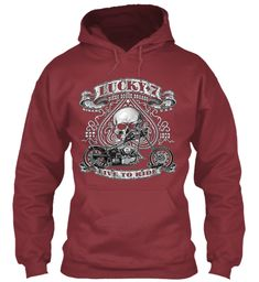 Bike Lover Special Hoodies !   02 Maroon Sweatshirt Front