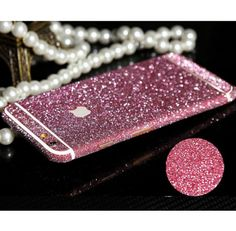 iPhone 6 Plus, 6/6S - Hot, Frosted Glitter Decal Skin in Assorted Colors
