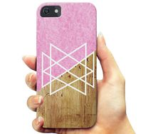 SPRING SALE Pink Geometric Wood  iPhone 7 case, iPhone 6 6s Plus case, iPhone 6 6s case,  Samsung Galaxy s7 case, Samsung s6 case, Note 5 ca