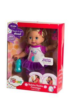 Muñeca que graba voz, marca My Little Mommy.