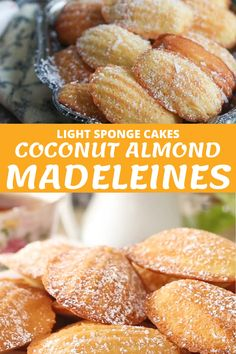 Baking Recipes, Cookie Recipes, Dessert Recipes, Madeline Cookies Recipe, Madelines Recipe, Madeleine Cake, Recipes With Few Ingredients, Cookies Et Biscuits, Food Videos