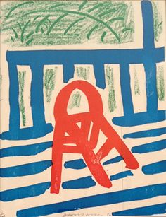 Hockney chair homemade print