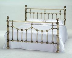 Fancy Brass Bed w/Porcelain Inserts | For the Home ...