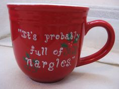 Full of Nargles Coffee Mug Luna Lovegood Quote from Harry Potter