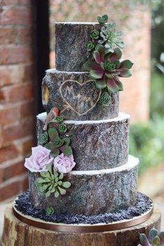 Rustic Wedding Cakes #weddingcake