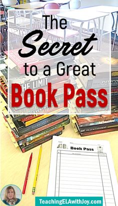 Hook your students on independent reading with a Book Pass! Learn the secret to a successful Book Pass with 30 suggested YA titles. TeachingELAwithJoy.com #independentreading #bookpass #speeddating
