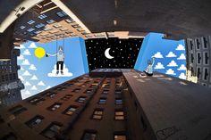 Ilustraciones en cielos de edificio...