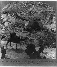 The Apostle's Spring on the road between Jerusalem and Jericho, Palestine | Library of Congress