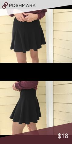 Nordstrom Lush black skater skirt Perfect black skater skirt. Flattering. Been worn before but well taken care of. Lush Skirts Circle & Skater