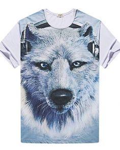 d330adbb4273 Wolf t shirts plus size clothing 3D t shirt for men XXXXXL Wolf T Shirt
